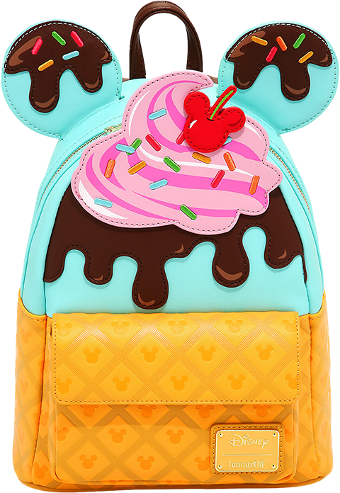 Loungefly Mickey and Minnie Sweets Ice Cream Mini Backpack Apparel