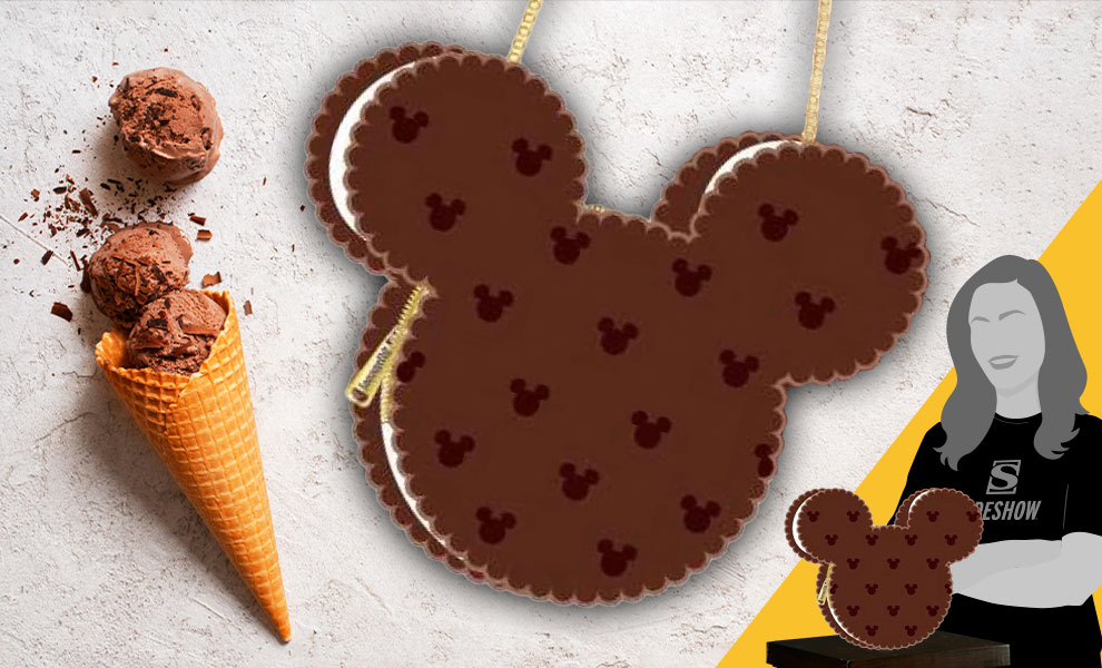 Gallery Feature Image of Mickey Mouse Ice Cream Sandwich Crossbody Apparel - Click to open image gallery