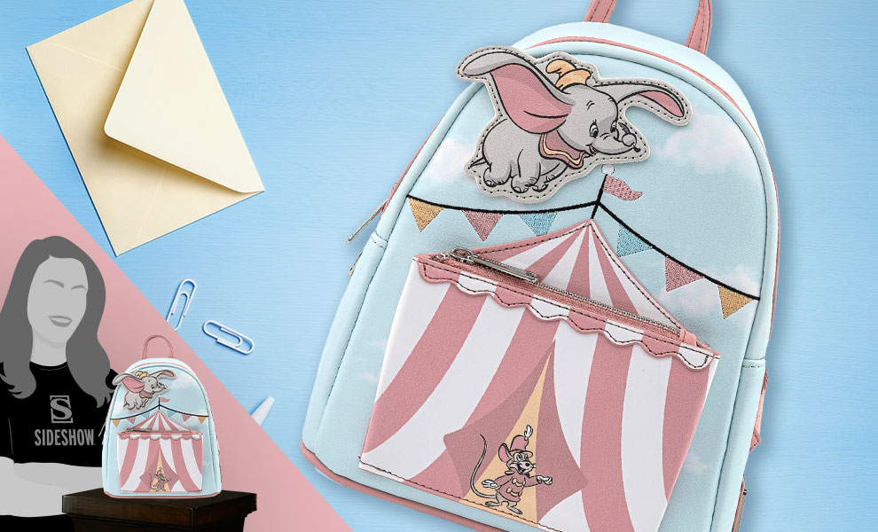 Gallery Feature Image of Dumbo Flying Circus Tent Mini Backpack Apparel - Click to open image gallery