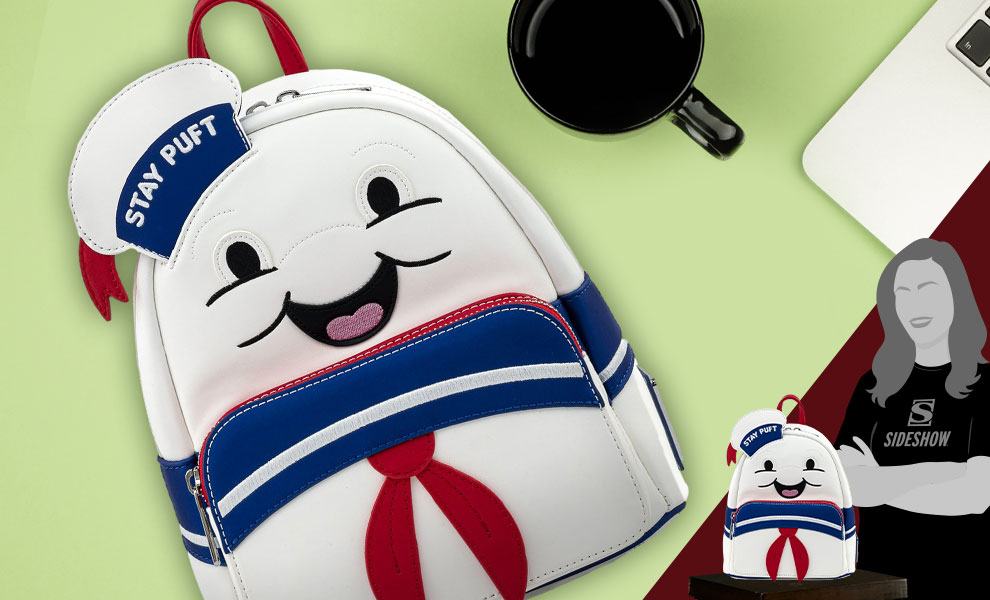 Gallery Feature Image of Stay Puft Marshmallow Man Mini Backpack Apparel - Click to open image gallery