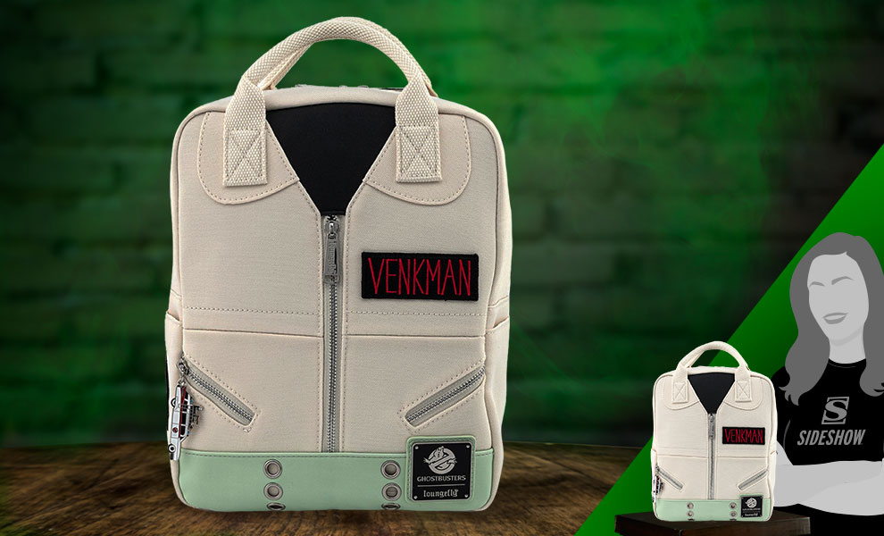 Gallery Feature Image of Venkman Cosplay Square Canvas Backpack Apparel - Click to open image gallery