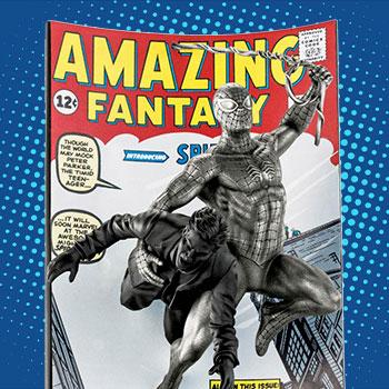 Spider-Man Amazing Fantasy #15 (Satin) Pewter Collectible