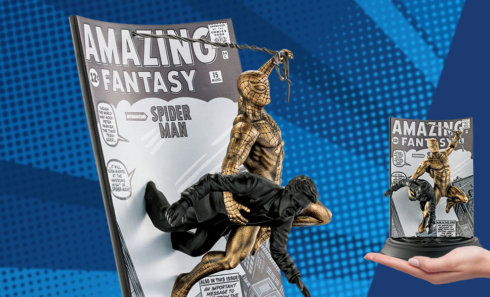 Gallery Feature Image of Spider-Man Amazing Fantasy #15 (Gilt Edition) Pewter Collectible - Click to open image gallery