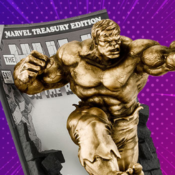 The Hulk Classic Cover (Gilt Edition) Pewter Collectible