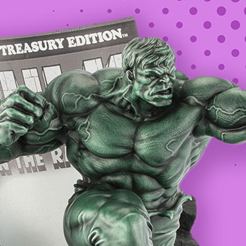 The Hulk Classic Cover (Green Edition) Pewter Collectible