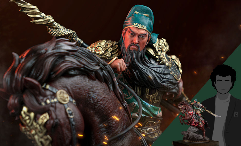 Gallery Feature Image of Three Kingdoms Generals Guan Yu Statue - Click to open image gallery