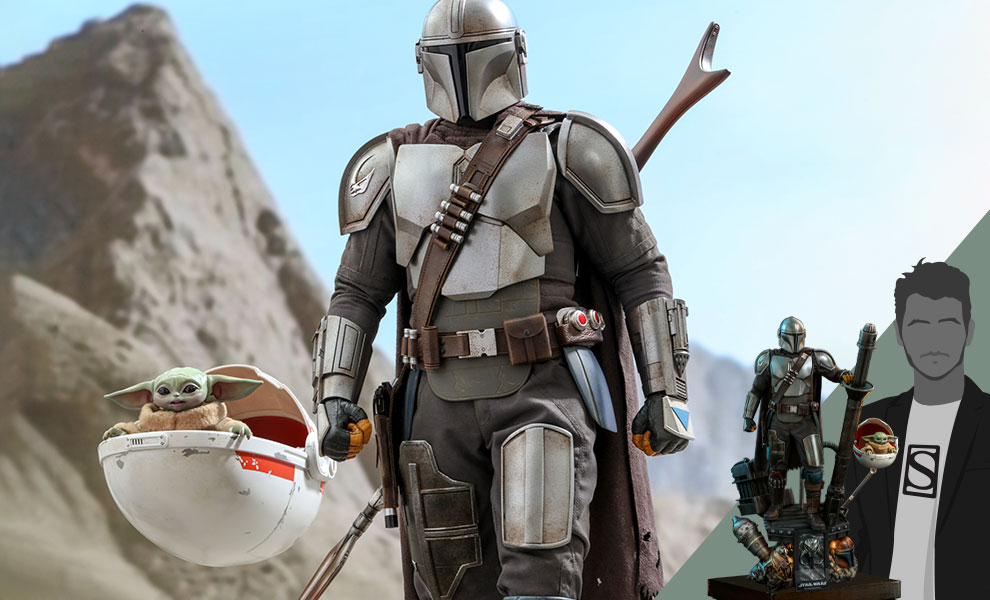 Gallery Feature Image of The Mandalorian™ and The Child (Deluxe) Collectible Set - Click to open image gallery