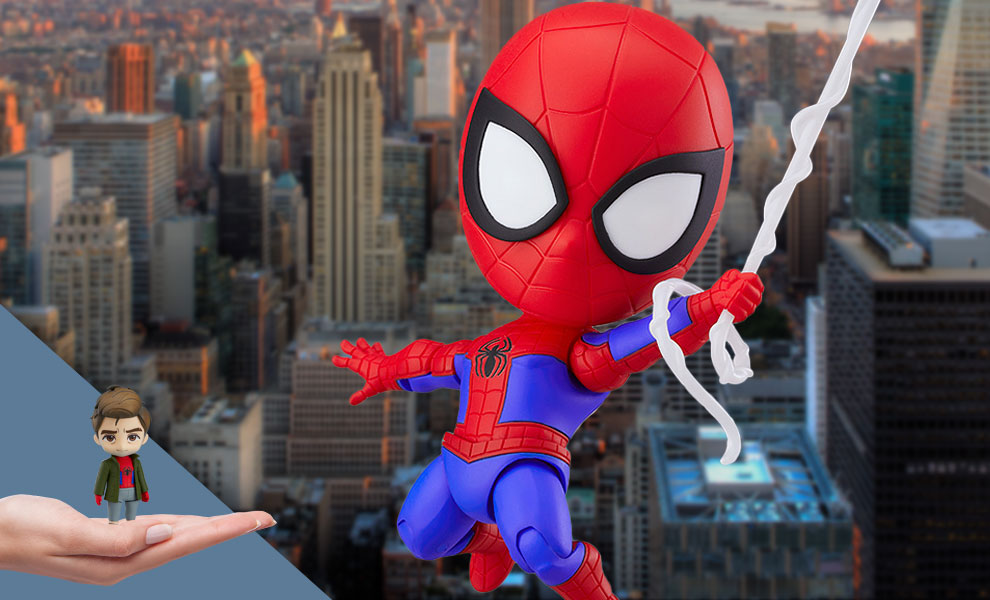Gallery Feature Image of Peter Parker: Spider-Verse Version DX Nendoroid Collectible Figure - Click to open image gallery