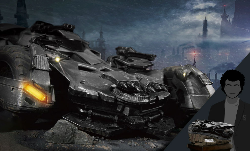 Gallery Feature Image of Justice League Batmobile Diorama - Click to open image gallery