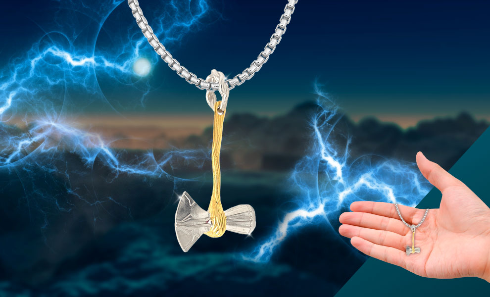 Gallery Feature Image of Mini Stormbreaker Necklace Jewelry - Click to open image gallery