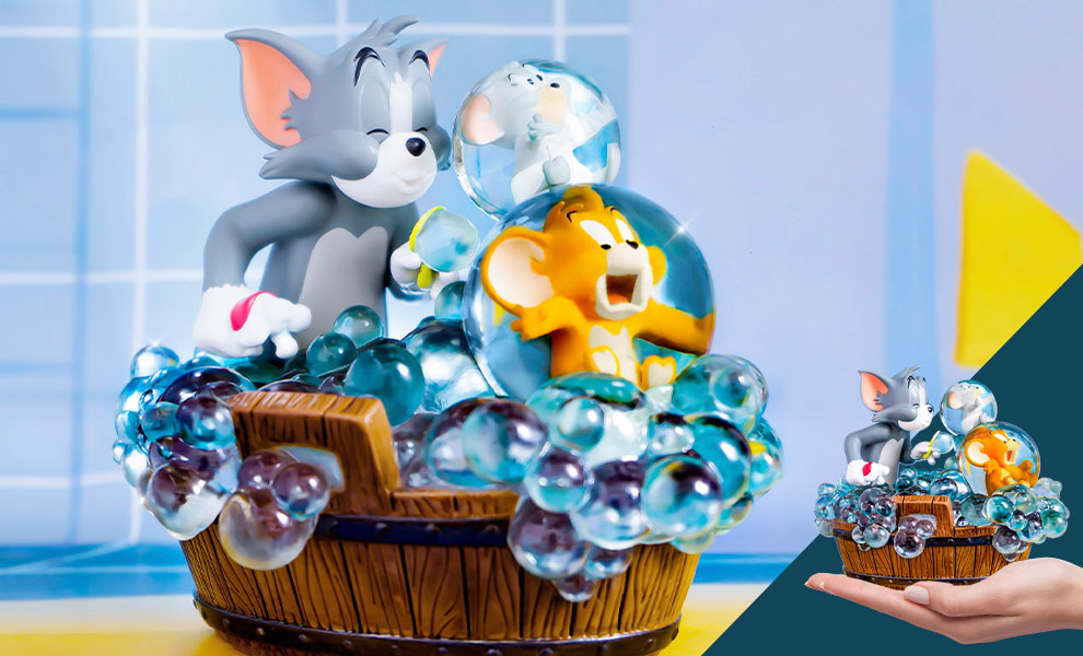Gallery Feature Image of Tom and Jerry - Bath Time Statue - Click to open image gallery