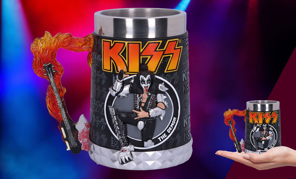 Gallery Feature Image of KISS Flame Range The Demon Tankard Collectible Drinkware - Click to open image gallery