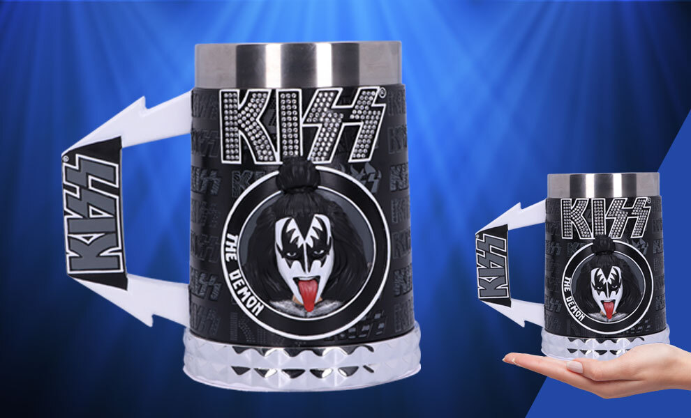 Gallery Feature Image of KISS Glam Range The Demon Tankard Collectible Drinkware - Click to open image gallery