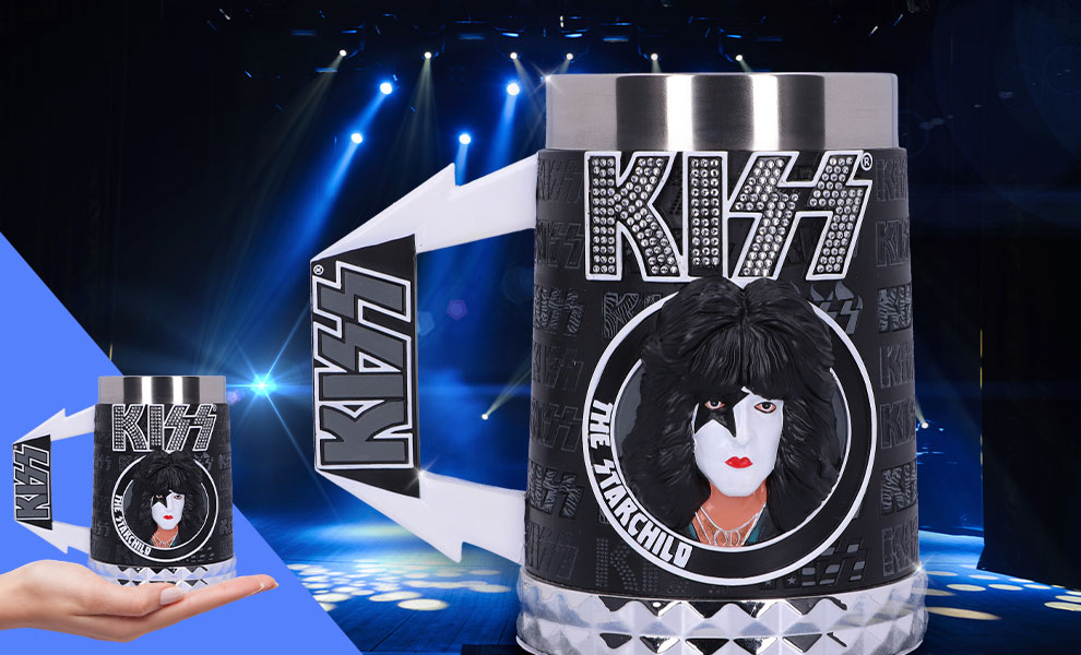 Gallery Feature Image of KISS Glam Range The Starchild Tankard Collectible Drinkware - Click to open image gallery