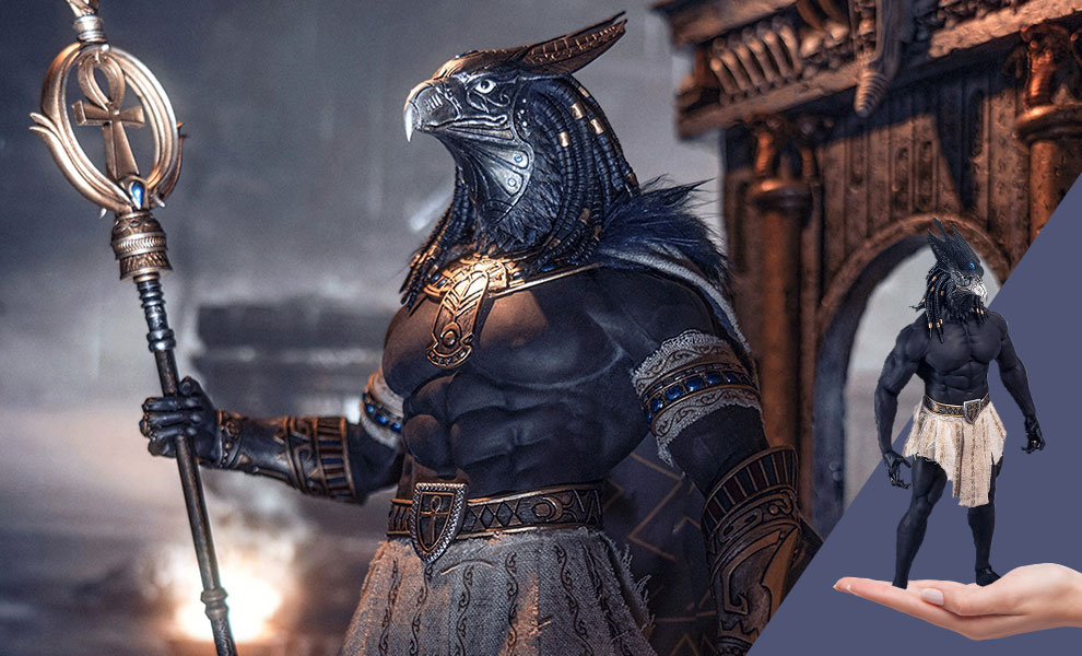 Gallery Feature Image of Horus Guardian of Pharaoh (Silver) Sixth Scale Figure - Click to open image gallery