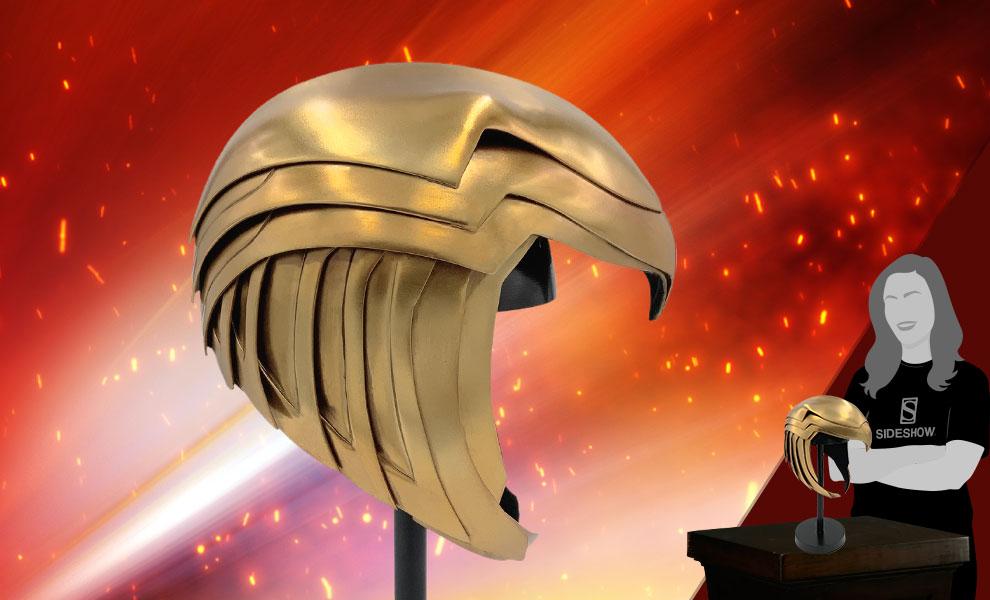 Gallery Feature Image of Wonder Woman Golden Armor Helmet Prop Replica - Click to open image gallery