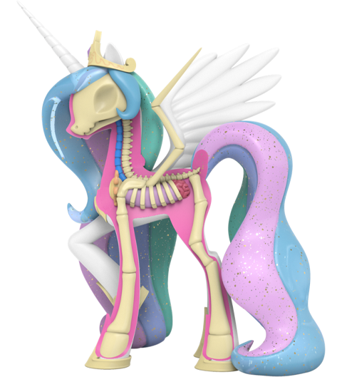 Mighty Jaxx XXRAY Plus: Princess Celestia Collectible Figure