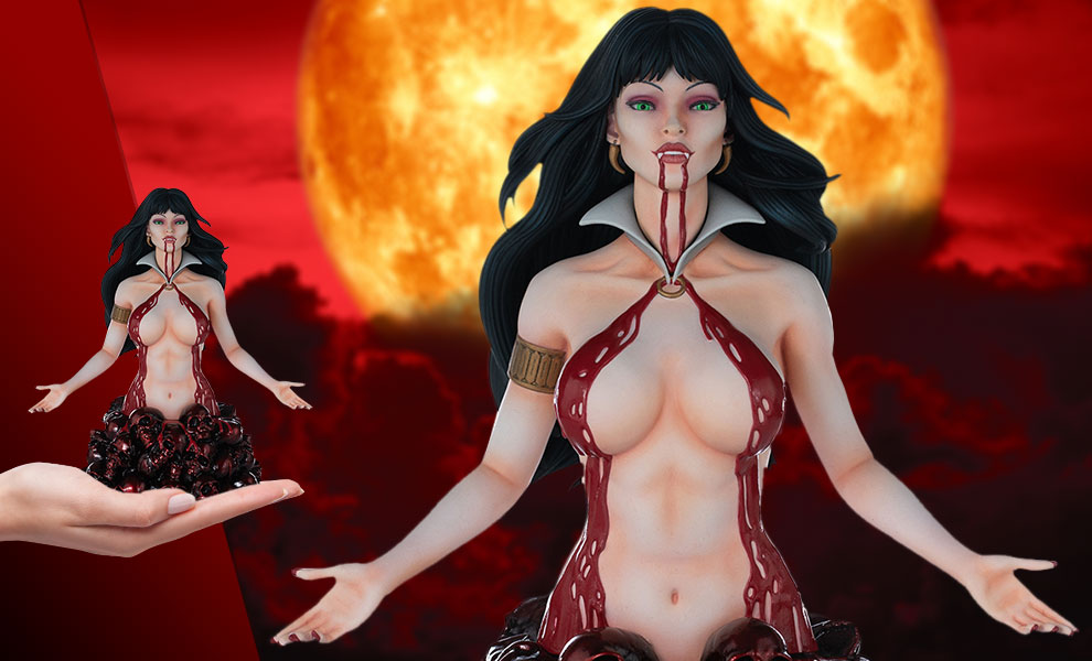 Gallery Feature Image of Vampirella (Red Reign Proof) Bust - Click to open image gallery
