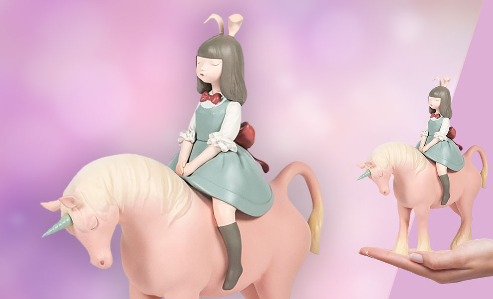 Gallery Feature Image of Nocturnal Unicorn (Spring Blue Dress) Collectible Figure - Click to open image gallery