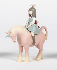 Gallery Image of Nocturnal Unicorn (Spring Blue Dress) Collectible Figure