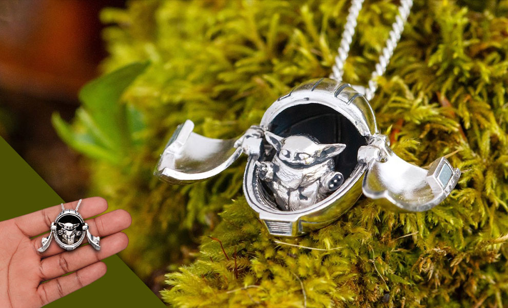 Gallery Feature Image of The Child Hover Pram Pendant Jewelry - Click to open image gallery