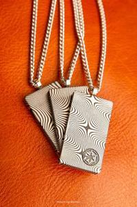 Gallery Image of Mandalorian Beskar Pendant Jewelry