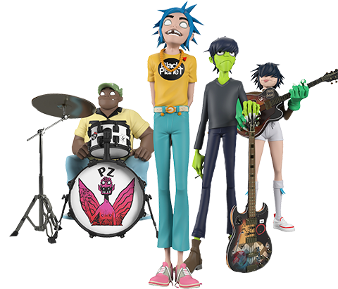 Superplastic Gorillaz Song Machine Band Full Set Designer Collectible Toy