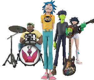 Gorillaz Song Machine Band Full Set Designer Collectible Toy