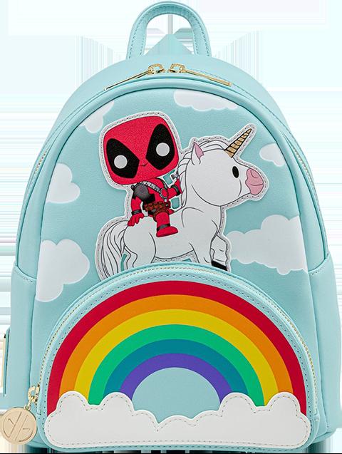 Loungefly Deadpool 30th Anniversary Unicorn Rainbow Mini Backpack Apparel