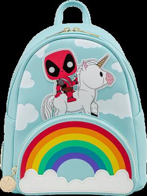 Deadpool 30th Anniversary Unicorn Rainbow Mini Backpack Apparel