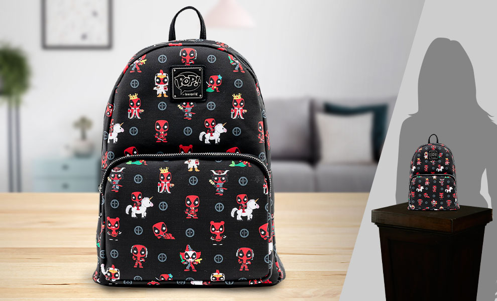 Gallery Feature Image of Deadpool 30th Anniversary AOP Mini Backpack Apparel - Click to open image gallery