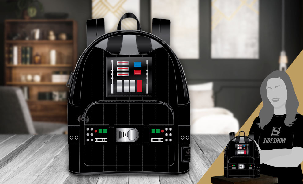 Gallery Feature Image of Darth Vader Light-Up Cosplay Mini Backpack Apparel - Click to open image gallery