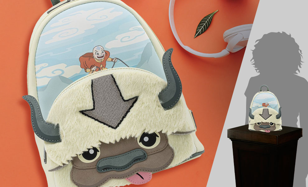 Gallery Feature Image of Aang Appa Cosplay Plush Mini Backpack Apparel - Click to open image gallery