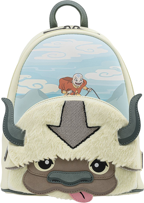 Loungefly Aang Appa Cosplay Plush Mini Backpack Apparel