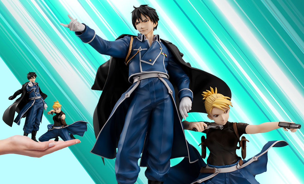 Gallery Feature Image of Precious G.E.M Roy Mustang & Riza Hawkeye Collectible Set - Click to open image gallery