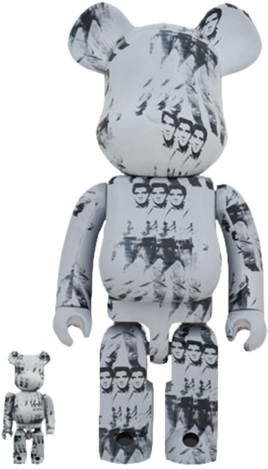 Be@rbrick Andy Warhol's Elvis Presley 100% & 400% Collectible Set