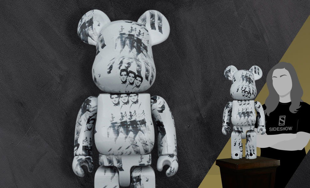 Gallery Feature Image of Be@rbrick Andy Warhol's Elvis Presley 1000% Collectible Figure - Click to open image gallery