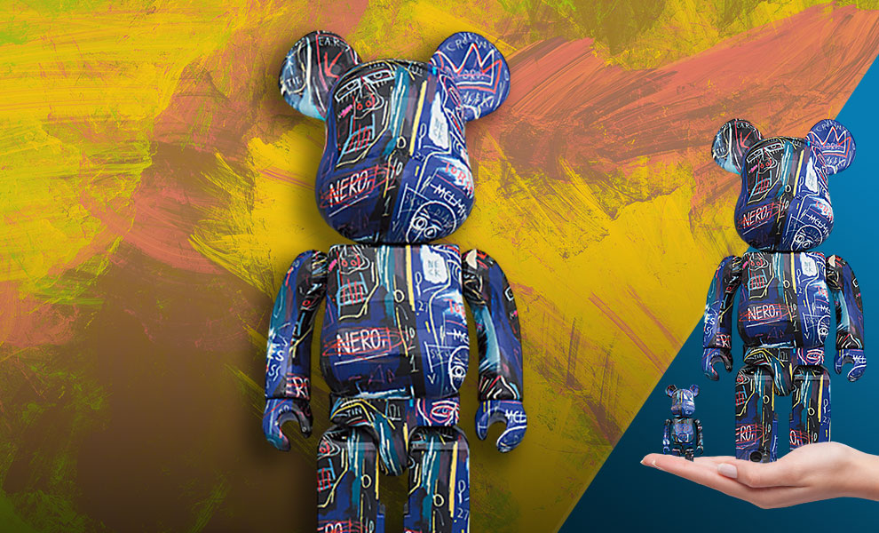 Gallery Feature Image of Be@rbrick Jean Michel Basquiat #7 100% & 400% Bearbrick - Click to open image gallery