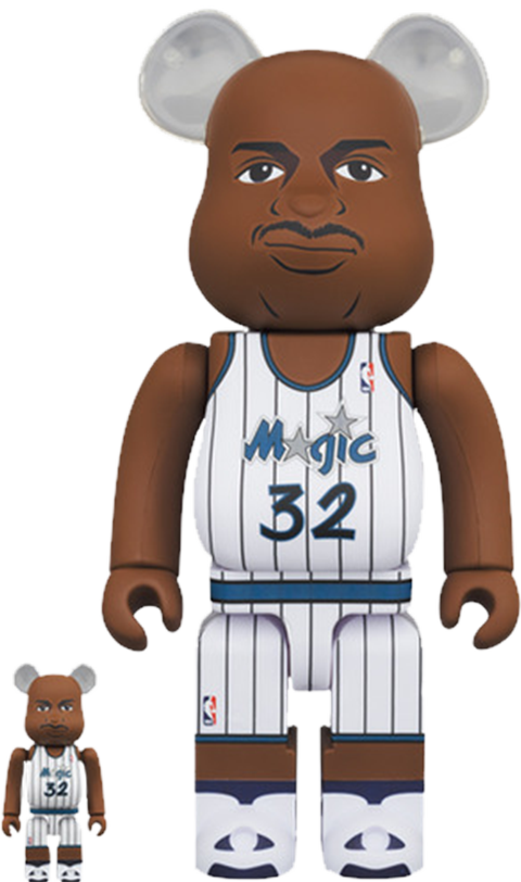 Medicom Toy Be@rbrick Shaquille O'Neal (Orlando Magic) 100% and 400% Collectible Set