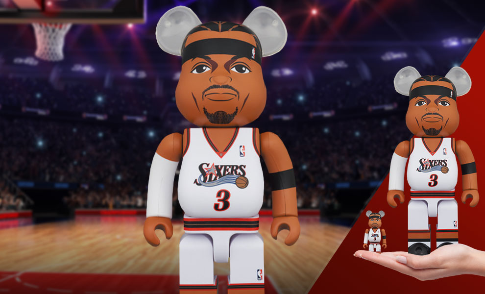Gallery Feature Image of Be@rbrick Allen Iverson (Philadelphia 76ers) 100% and 400% Collectible Set - Click to open image gallery