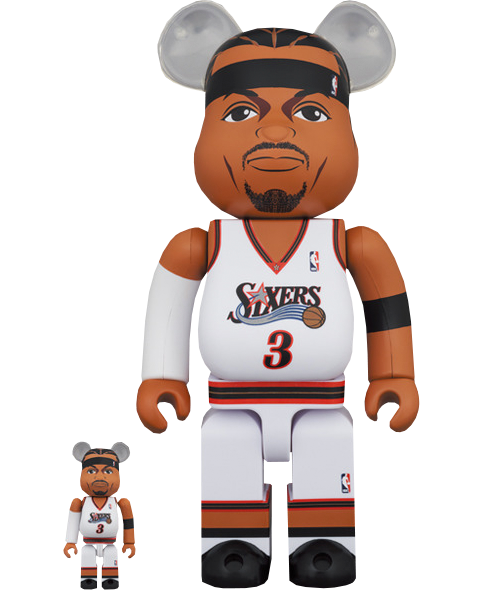 Medicom Toy Be@rbrick Allen Iverson (Philadelphia 76ers) 100% and 400% Collectible Set