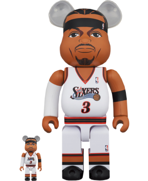 Be@rbrick Allen Iverson (Philadelphia 76ers) 100% and 400% Collectible Set