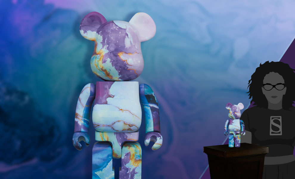 Gallery Feature Image of Be@rbrick Marble 400% Bearbrick - Click to open image gallery