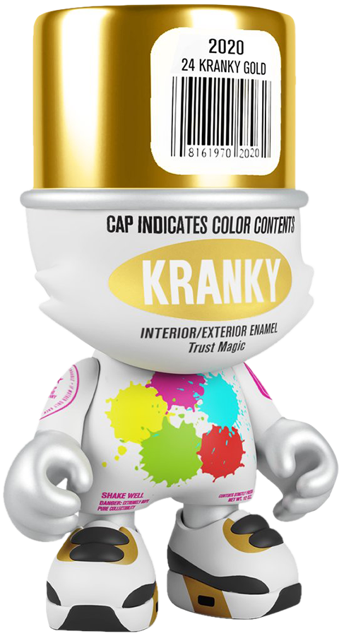 Superplastic Gold SuperKranky Designer Collectible Toy