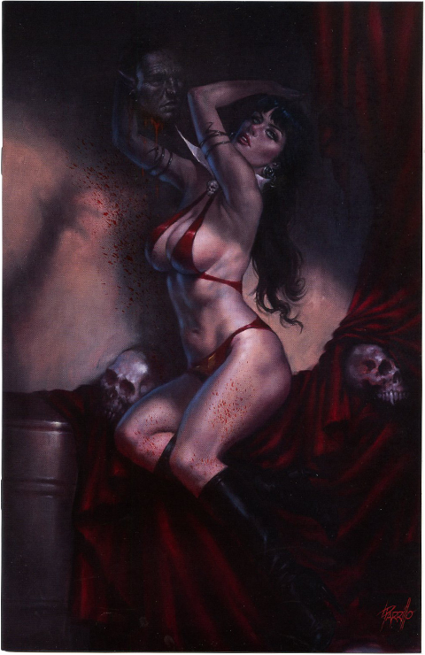 Dynamic Forces Vampirella #10 (Special Virgin Painted Cover by Lucio Parillo) Book