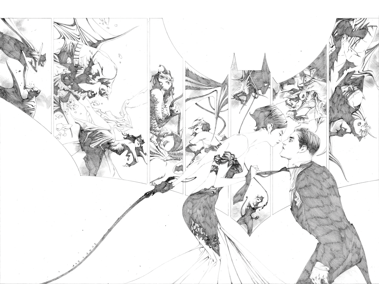 Dynamic Forces Batman #50 (Jae Lee Pure Line Art Edition Cover) Book