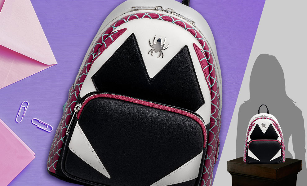 Gallery Feature Image of Spider-Gwen Cosplay Mini Backpack Apparel - Click to open image gallery