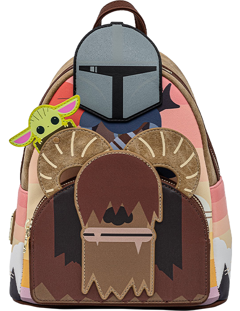 Loungefly Mandalorian Bantha Ride Mini Backpack Apparel