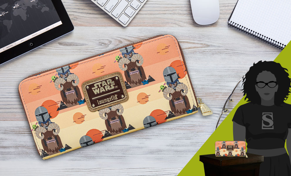 Gallery Feature Image of Mandalorian Bantha Ride Wallet Apparel - Click to open image gallery