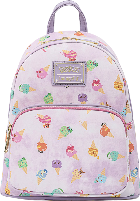 Loungefly Pokémon Ice Cream Acid Wash Denim Mini Backpack Apparel